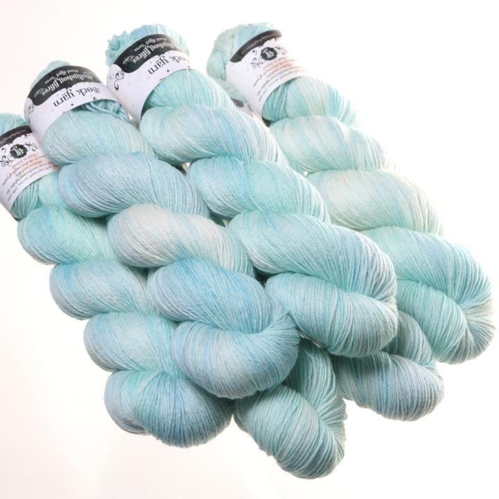 Hedgehog Fibres Hand Dyed Yarns Sock Yarn, Glacier