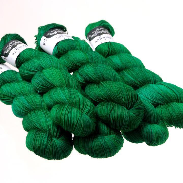 Hedgehog Fibres Hand Dyed Yarns Sock Yarn, Hunter