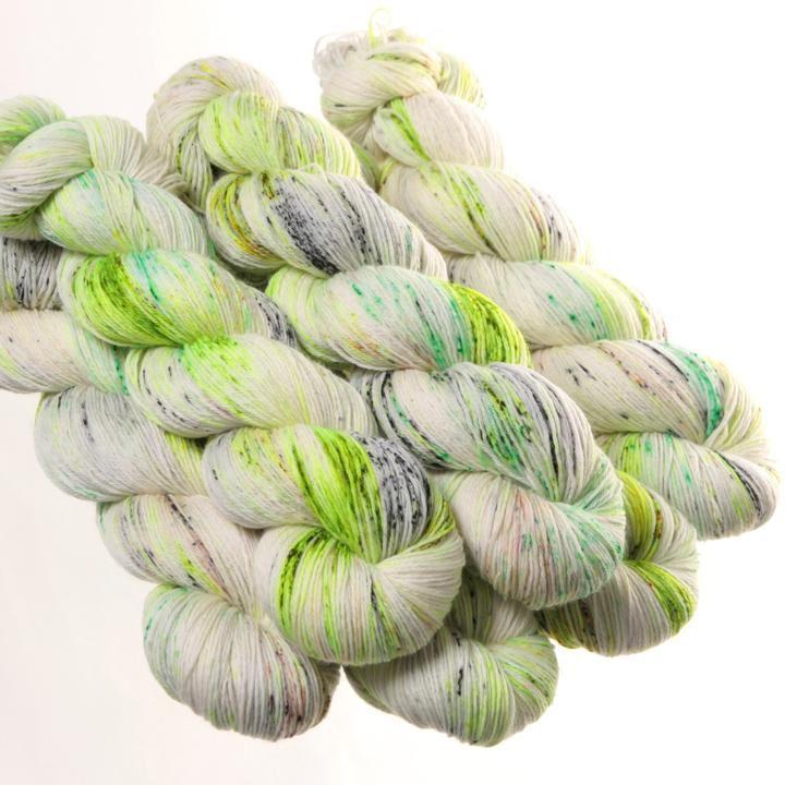 Hedgehog Fibres Hand Dyed Yarns Sock Yarn, Pesto