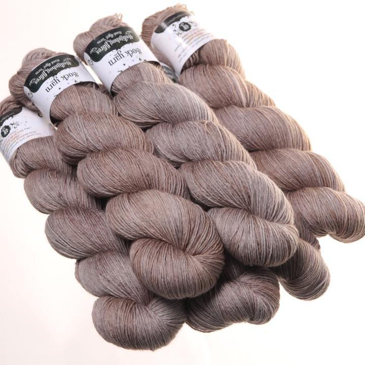 Hedgehog Fibres Hand Dyed Yarns Sock Yarn, Stone