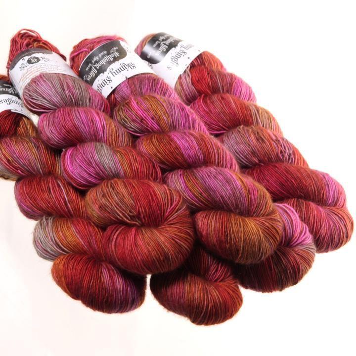 Hedgehog Fibres Hand Dyed Yarns Skinny Singles, Pheasant