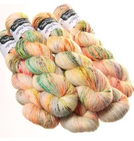 Hedgehog Fibres Hand Dyed Yarns Skinny Singles, Poppy