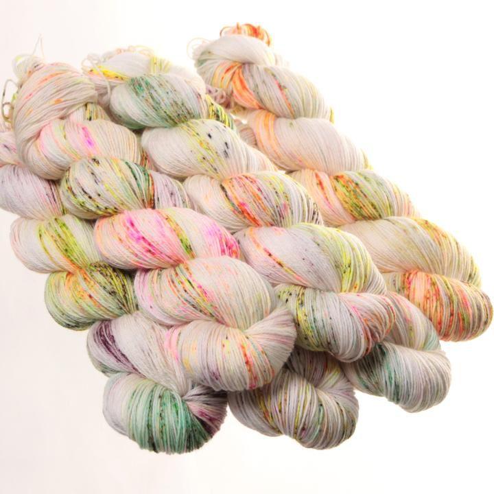 Hedgehog Fibres Hand Dyed Yarns Sock Yarn, Poppy