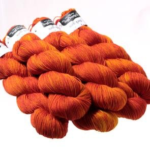 Hedgehog Fibres Hand Dyed Yarns Sock Yarn, Rusty Nail