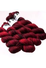 Hedgehog Fibres Hand Dyed Yarns Sock Yarn, Sour Cherry