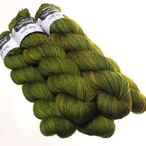 Hedgehog Fibres Hand Dyed Yarns Sock Yarn, Swamp
