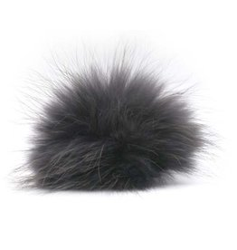 Lana Grossa PomPom, Charcoal/Black
