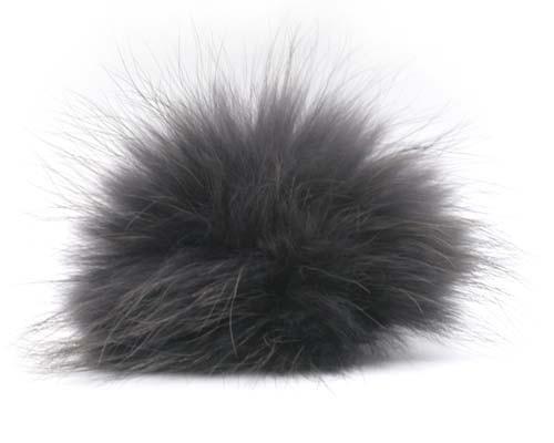 Lana Grossa PomPom, Charcoal/Black