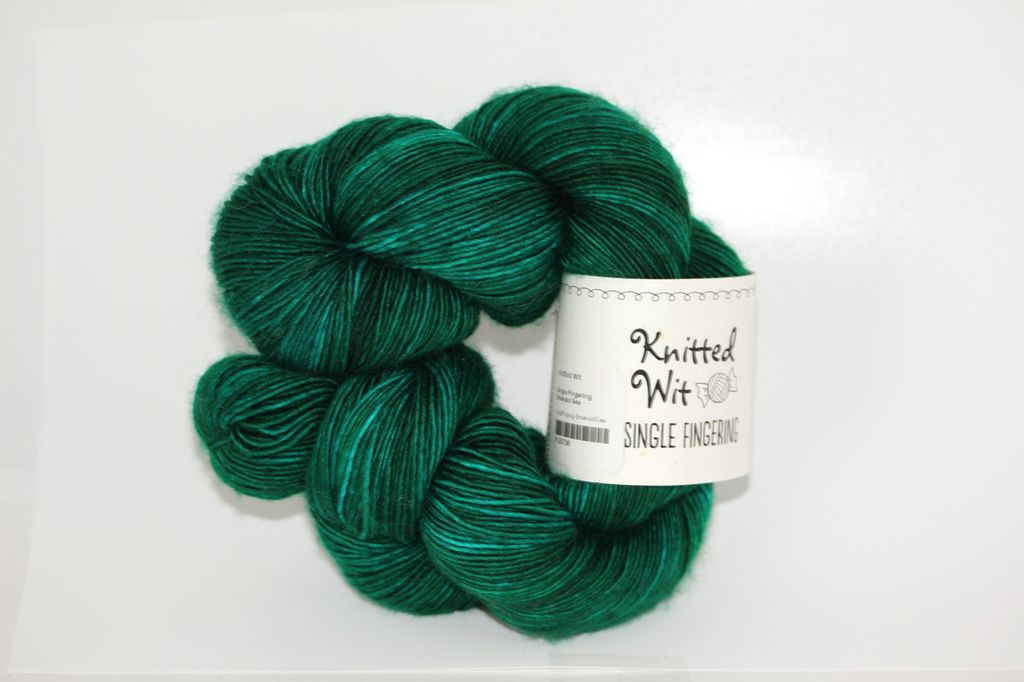 Knitted Wit Single Fingering, Emerald Sea