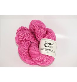 Knitted Wit Targhee Shimmer Worsted, Bashful (Discontinued)