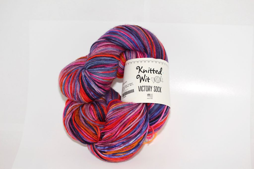 Knitted Wit Sock, Endless Summer Series - Berry Picking