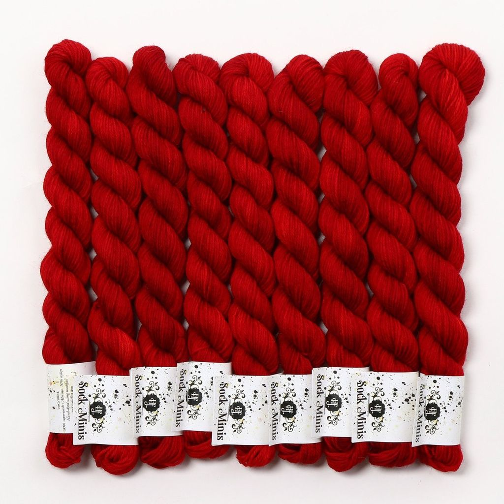 Hedgehog Fibres Hand Dyed Yarns Sock Minis, Sin