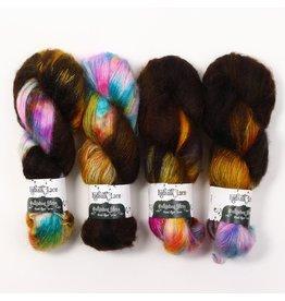 Hedgehog Fibres Hand Dyed Yarns Kidsilk Lace, Raku