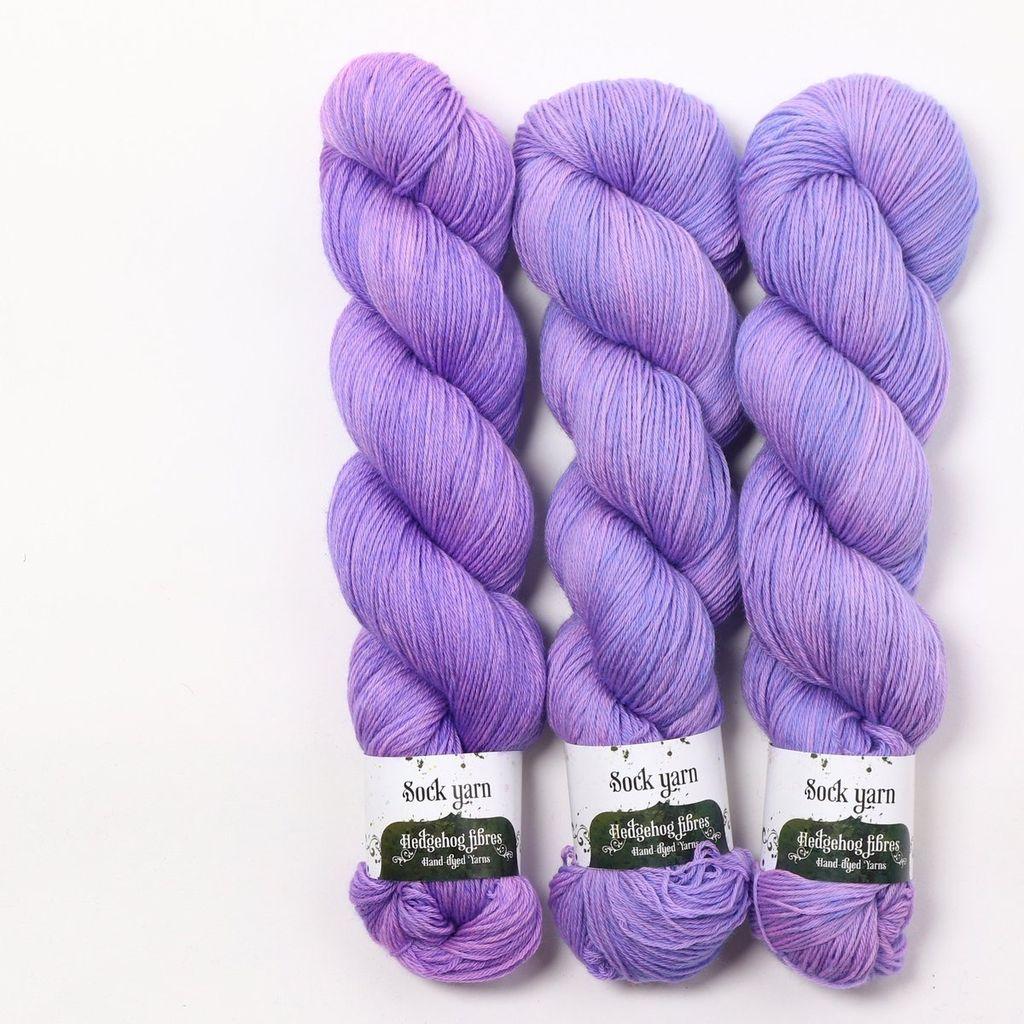 Hedgehog Fibres Hand Dyed Yarns Sock Yarn, Hush