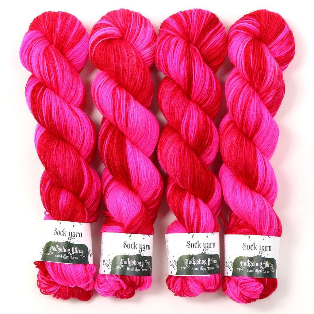 Hedgehog Fibres Hand Dyed Yarns Sock Yarn, Jelly
