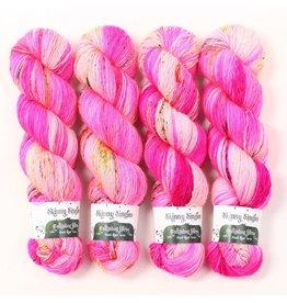 Hedgehog Fibres Hand Dyed Yarns Skinny Singles, Pinky Swear
