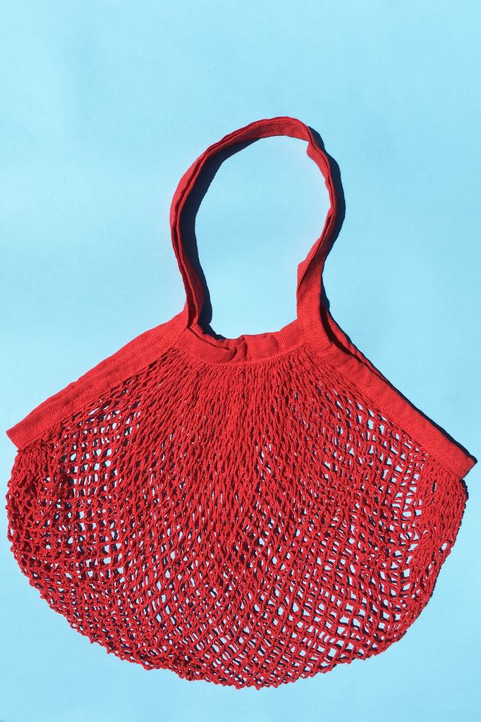 ACCESSART Crochet Tote in Cardinal Red