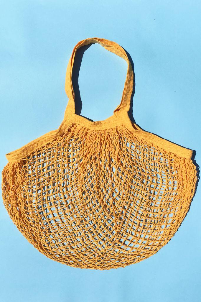 ACCESSART Crochet Tote in Sunflower Yellow