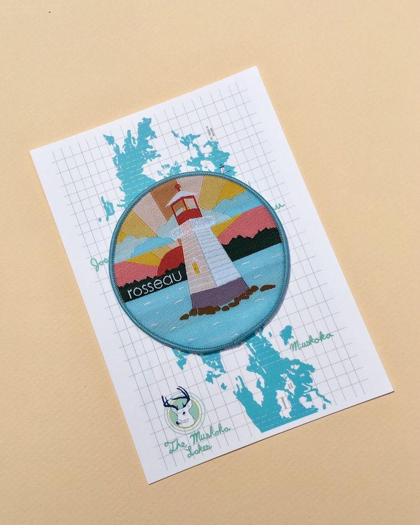 Rosseau Patch with Muskoka Lakes Postcard