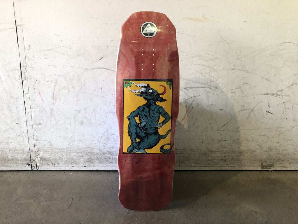 Welcome Skateboards 9.75 -Krampus on dark lord