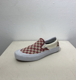Vans Slip On Pro Shoe - Checkers Red/Wht
