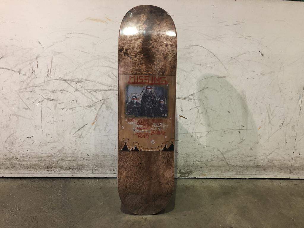 Colonialism Skateboard - MMIW