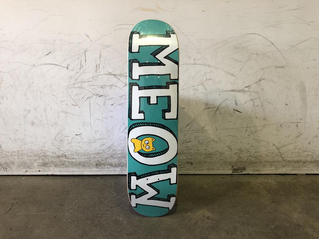 Meow Skateboard 7.3 - Teal Logo