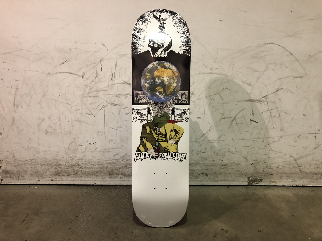 Fucking Awesome Skateboard 8.18 - Frogman Dipped White