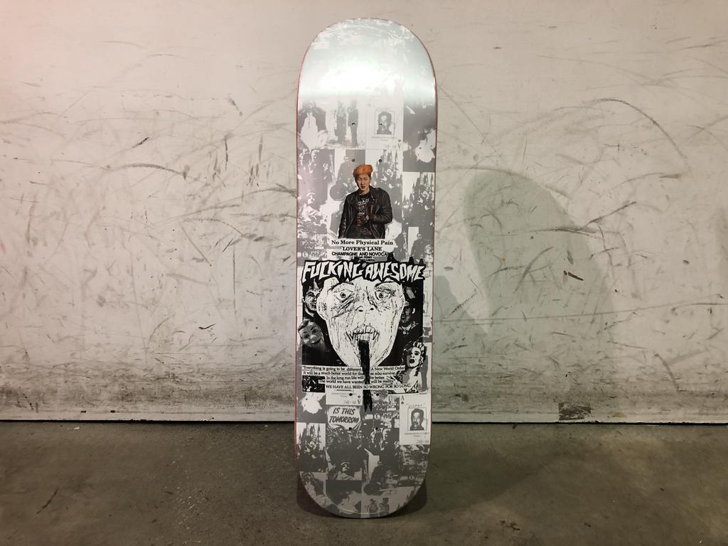 Fucking Awesome Skateboard 8.25 - Face Reality Blue