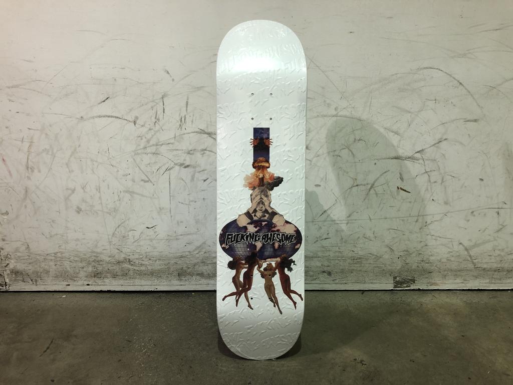 Fucking Awesome Skateboard 8.0 - Berle Dipped White