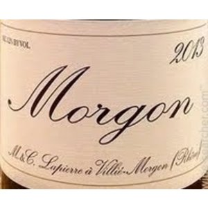 Wines and sakes Beaujolais - Morgon 2017 Marcel Lapierre. 750ml