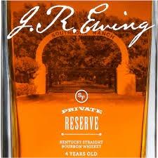 J R EWING Bourbon Private Reserve  750ml (80 proof)