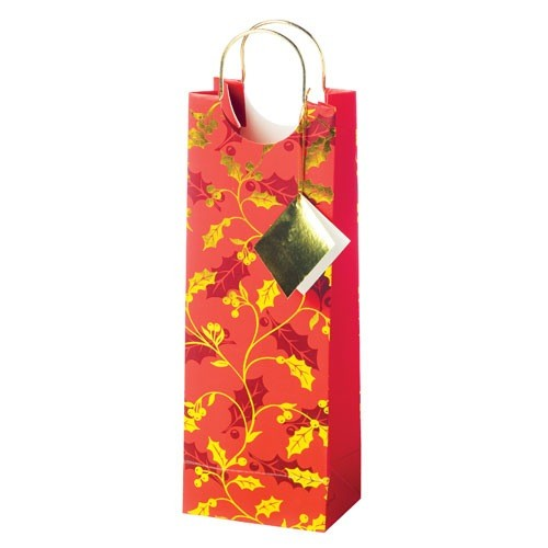 Holly 1-Bottle Gift Bag