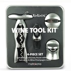 Accessories Rabbit 4pc Wine Tool Kit w/ Self-pulling Corkscrew (Silver)