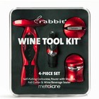 Wines and sakes Rabbit 4pc Wine Tool Kit w/ Self-pulling Corkscrew (RED)
