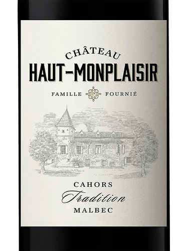 "Cahors Malbec 2017 Chateau Haut Monplaisir ""Tradition"" 750ml"