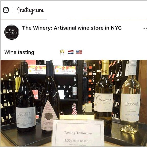 THE WINERY NYC instagram