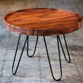 "Acacia Circle Coffee Table 24"" Dia. x 17"" tall."