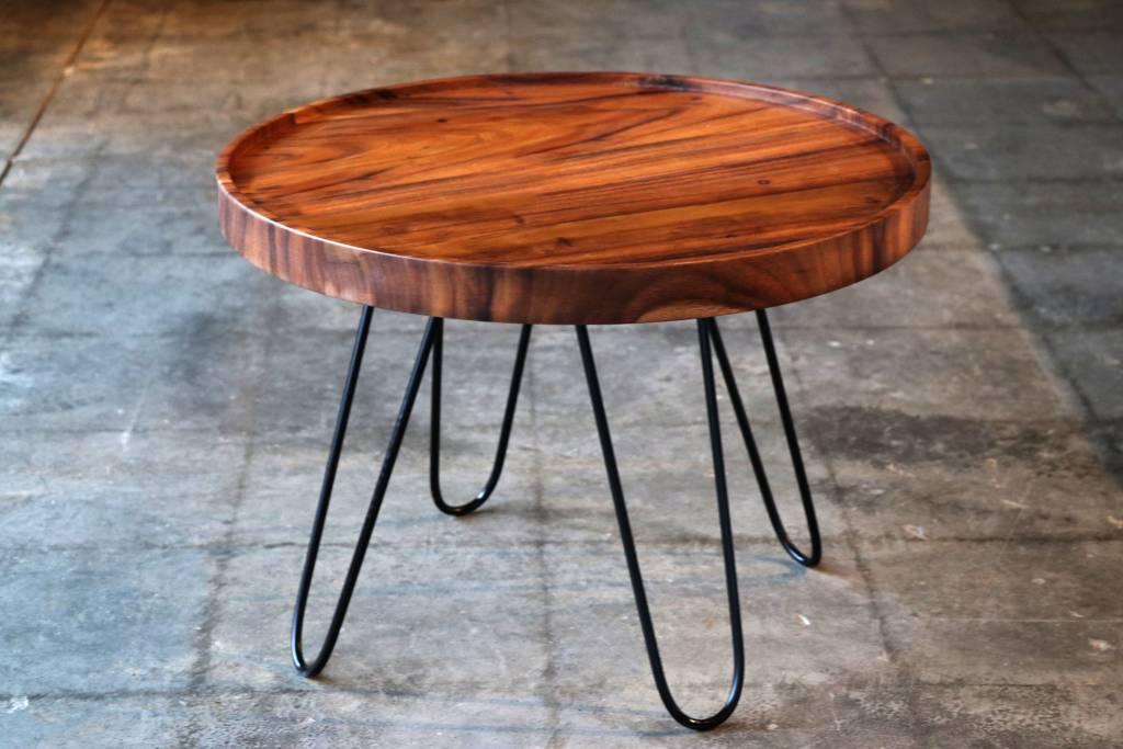 "Acacia Circle Coffee Table 24"" Dia. x 17"" tall."