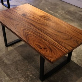 Large Acacia Table Metal Base  38''x 72'' x 30""