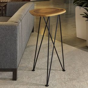 "Acacia Freeform High Table 16"" Diameter"