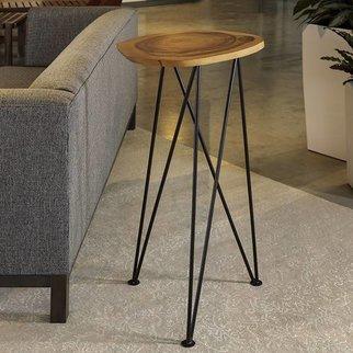 "Acacia Freeform High Table 16"" Diameter"