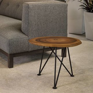 "Acacia Freeform Low Table - 16"" diameter"