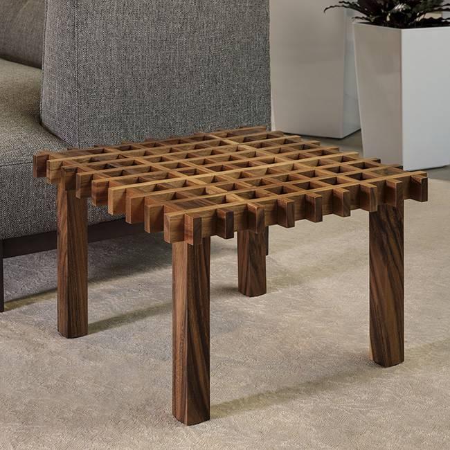 Acacia Waffle Table