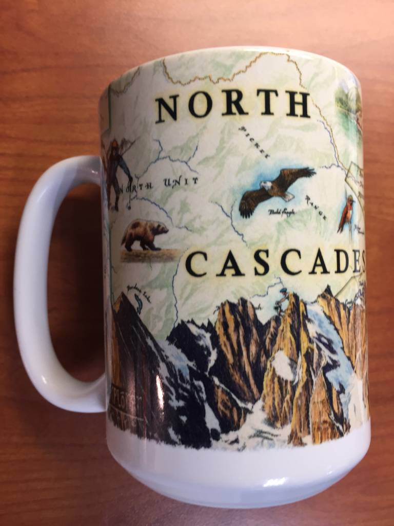 Mug hand drawn map
