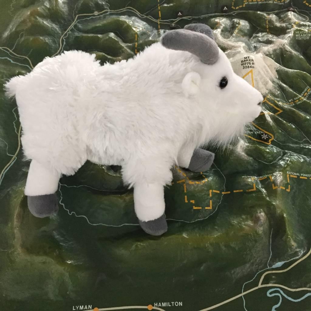 Stuffed animal mountain goat
