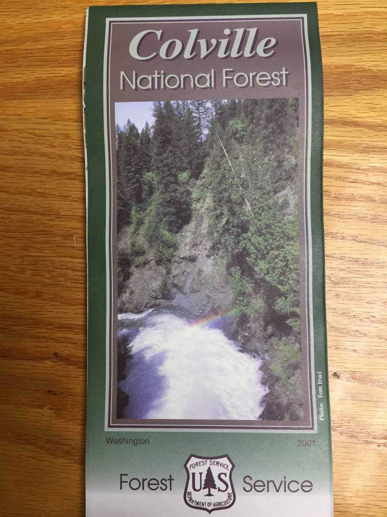 Colville National Forest Map
