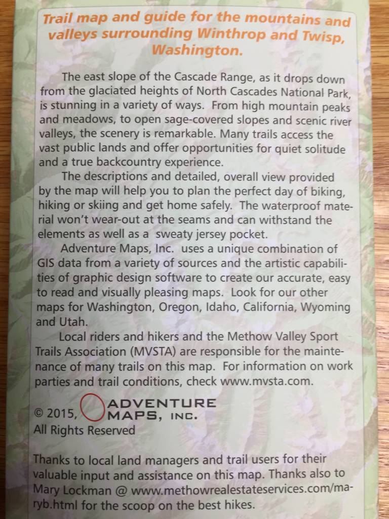 Methow Valley Trail Map 2015