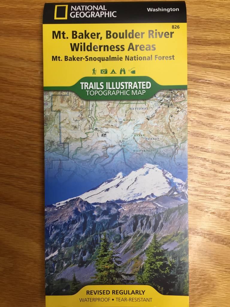 Trails Illustrated Mt Baker Boulder River Map