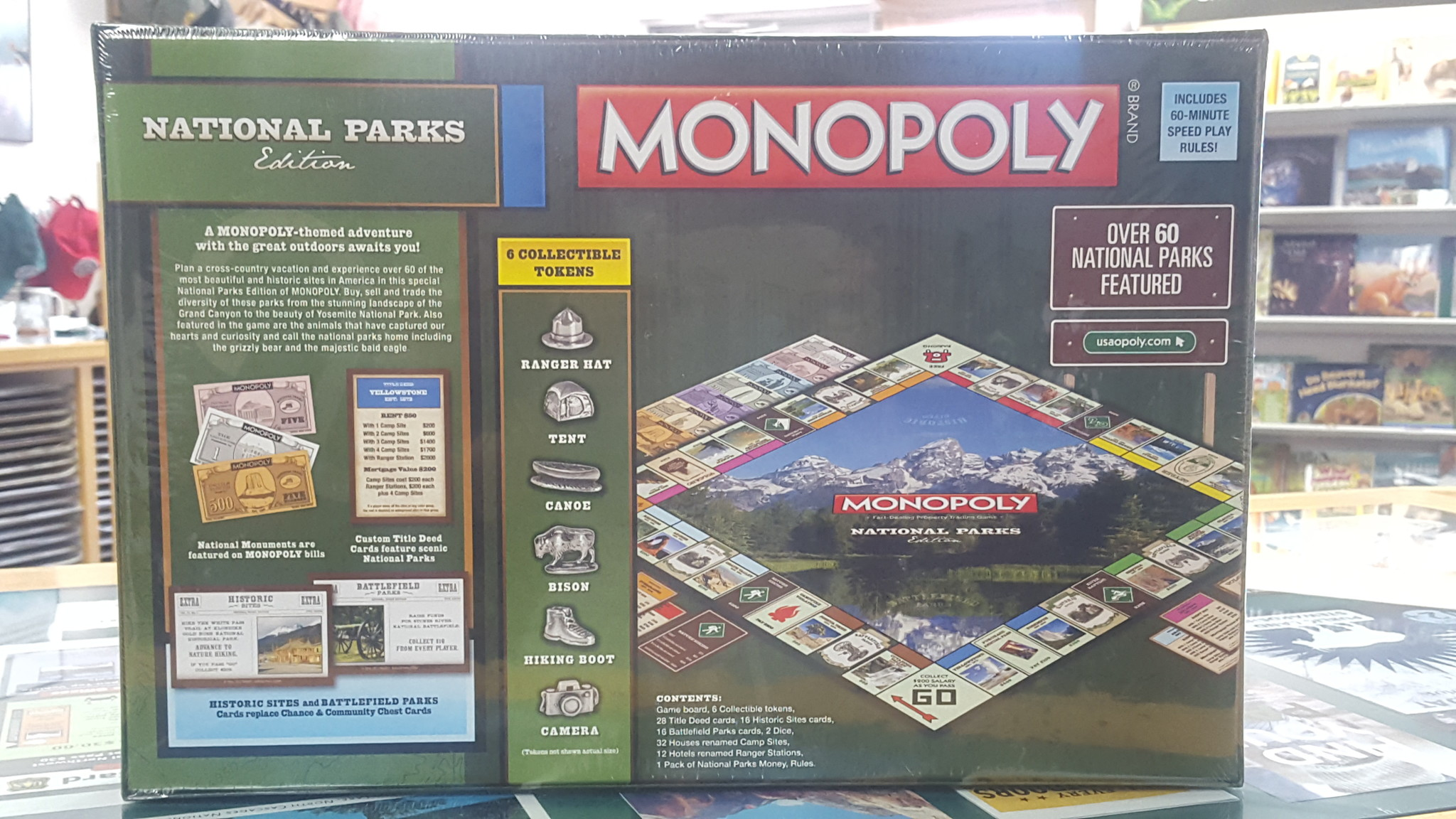 Board game Monopoly National Parks